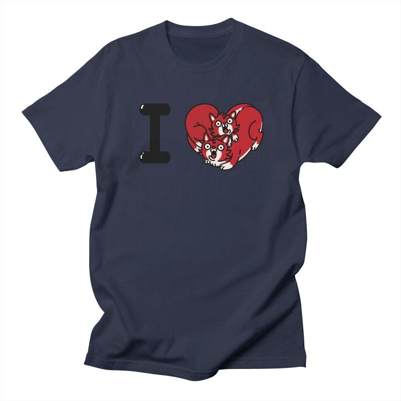 I heart cats Men's Regular T-Shirt by Rodrigobhz