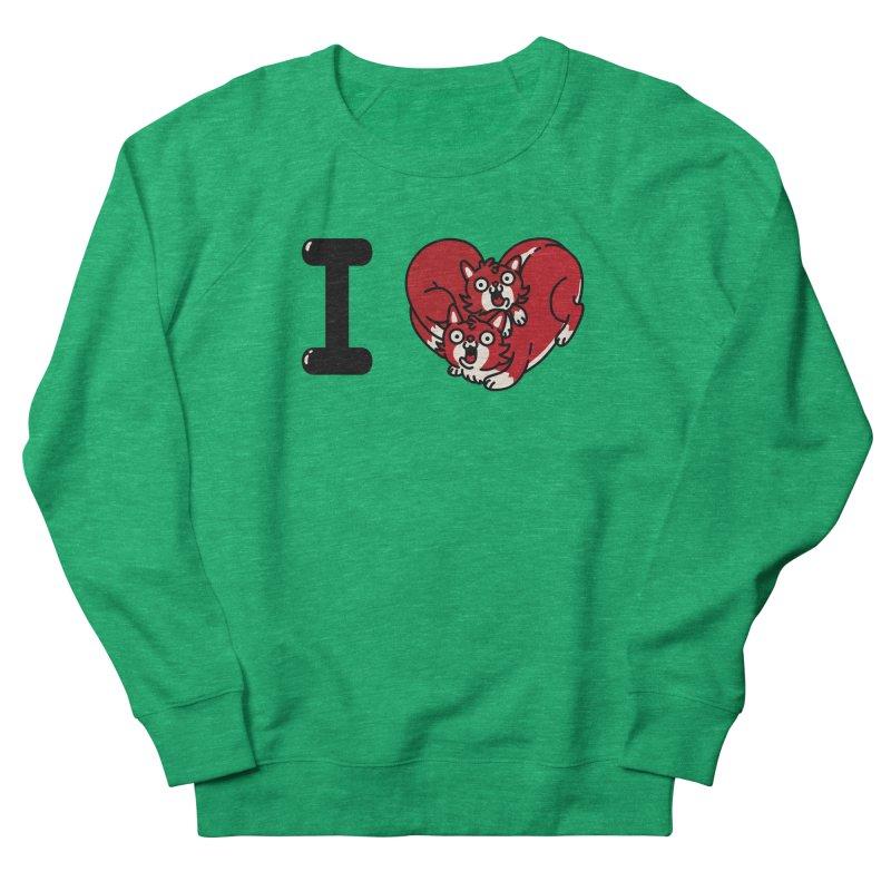 I heart cats Men's French Terry Sweatshirt by Rodrigobhz