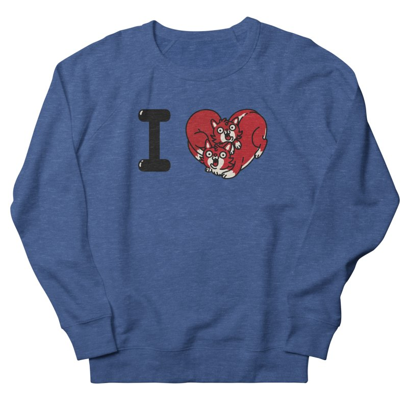 I heart cats Men's French Terry Sweatshirt by Rodrigobhz