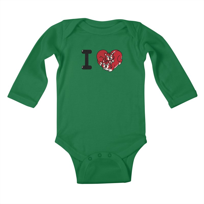 I heart cats Kids Baby Longsleeve Bodysuit by Rodrigobhz