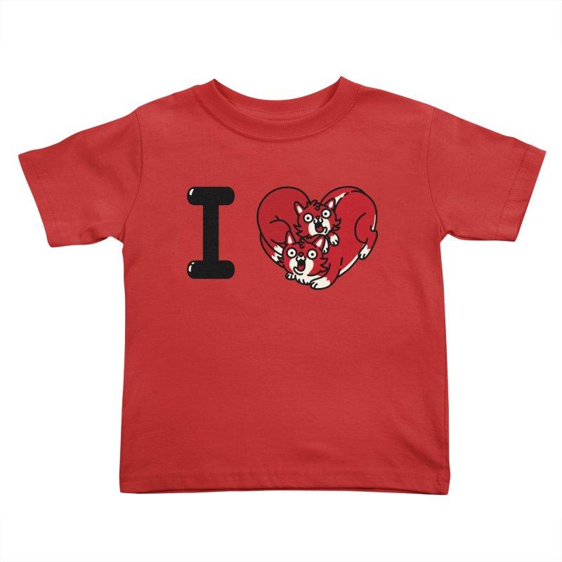 I heart cats Kids Toddler T-Shirt by Rodrigobhz