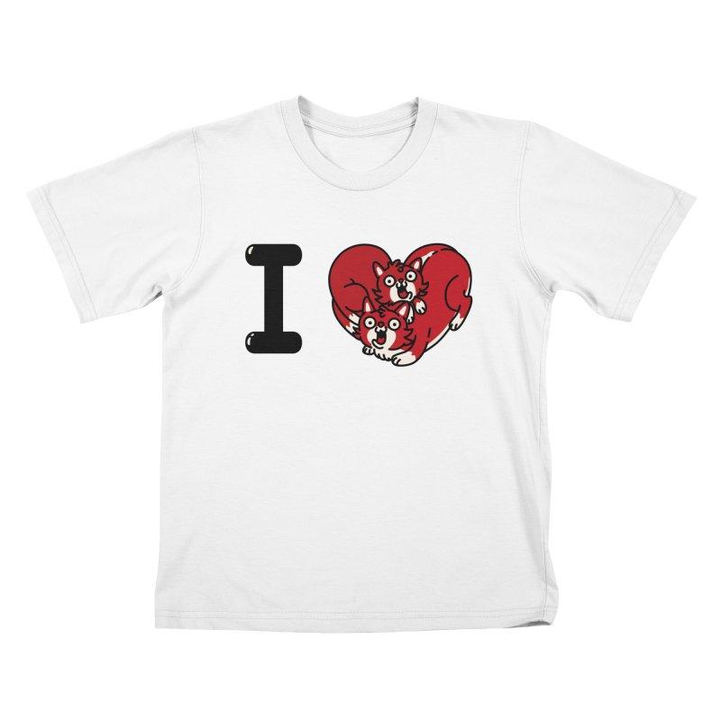 I heart cats Kids T-Shirt by Rodrigobhz