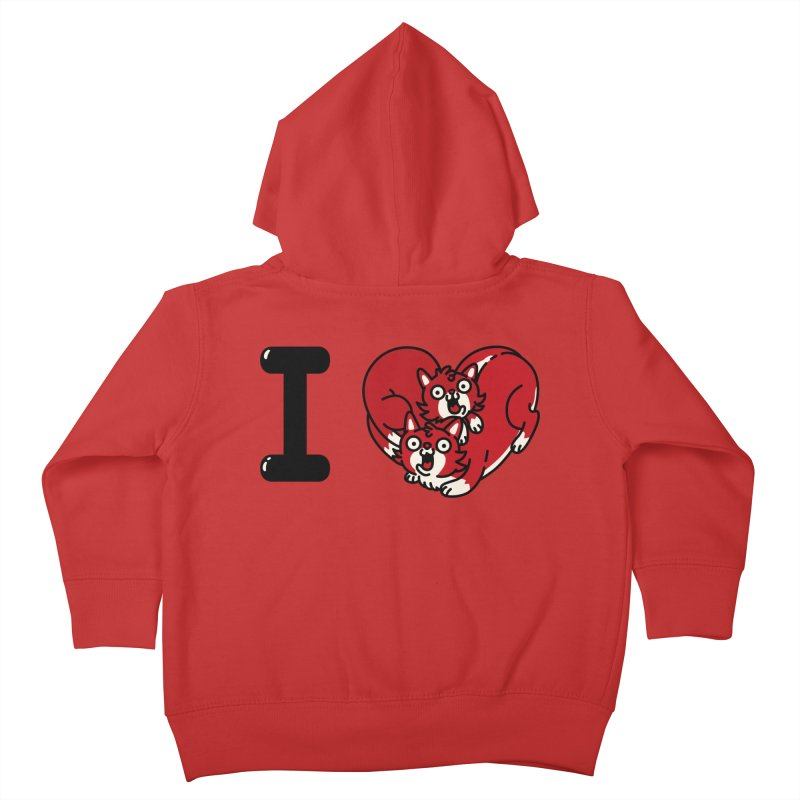 I heart cats Kids Toddler Zip-Up Hoody by Rodrigobhz