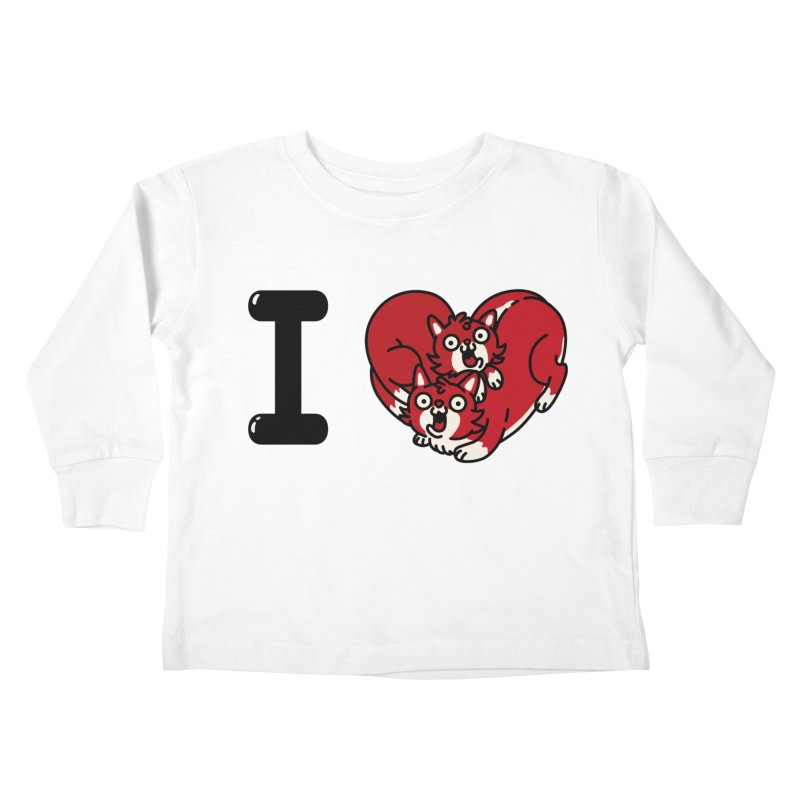 I heart cats Kids Toddler Longsleeve T-Shirt by Rodrigobhz
