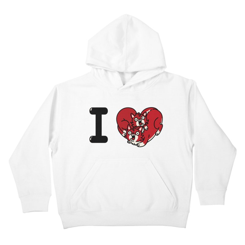 I heart cats Kids Pullover Hoody by Rodrigobhz