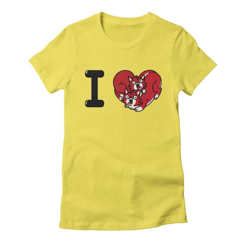 I heart cats Women's Fitted T-Shirt by Rodrigobhz