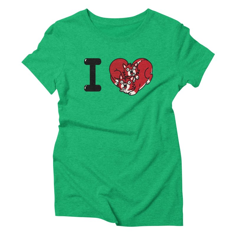 I heart cats Women's Triblend T-Shirt by Rodrigobhz