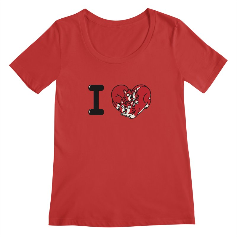 I heart cats Women's Regular Scoop Neck by Rodrigobhz