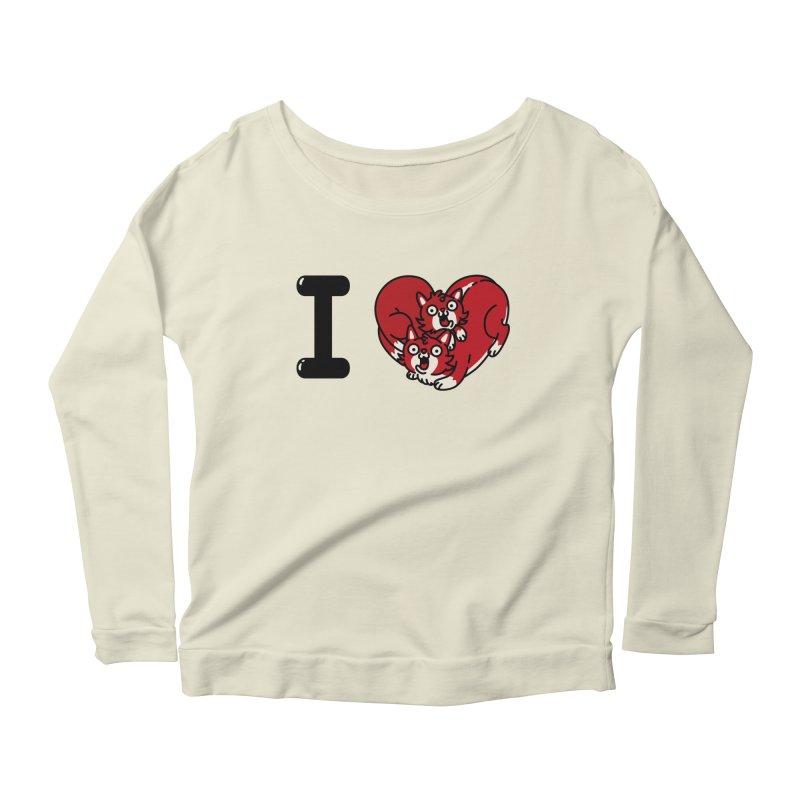 I heart cats Women's Scoop Neck Longsleeve T-Shirt by Rodrigobhz
