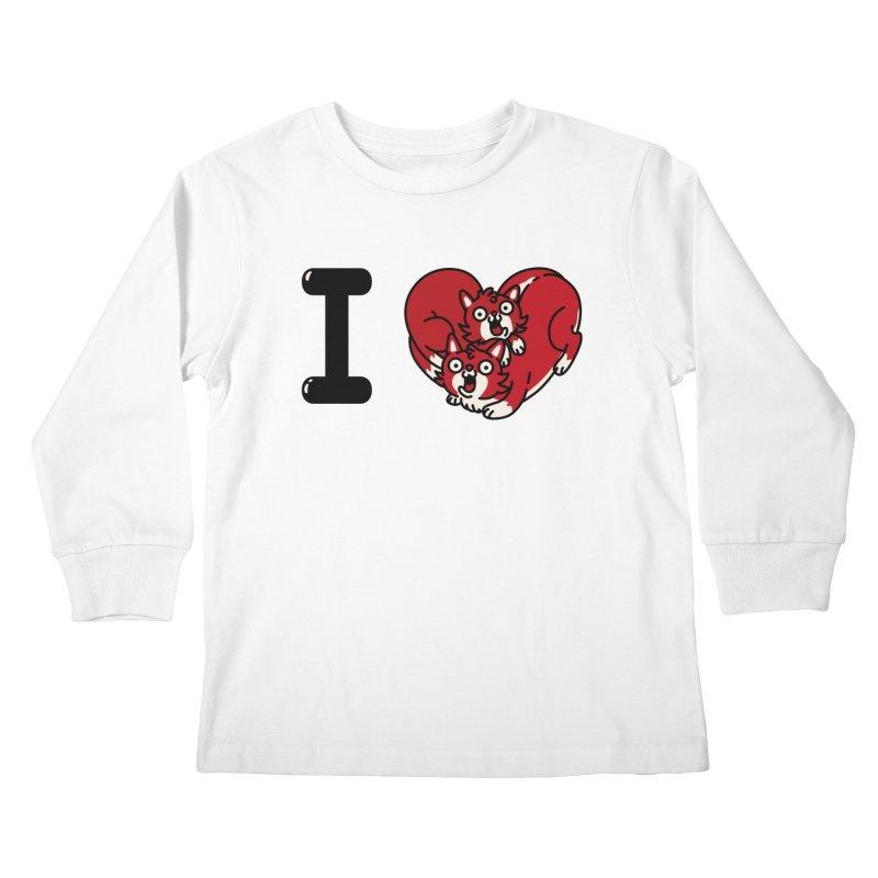 I heart cats Kids Longsleeve T-Shirt by Rodrigobhz