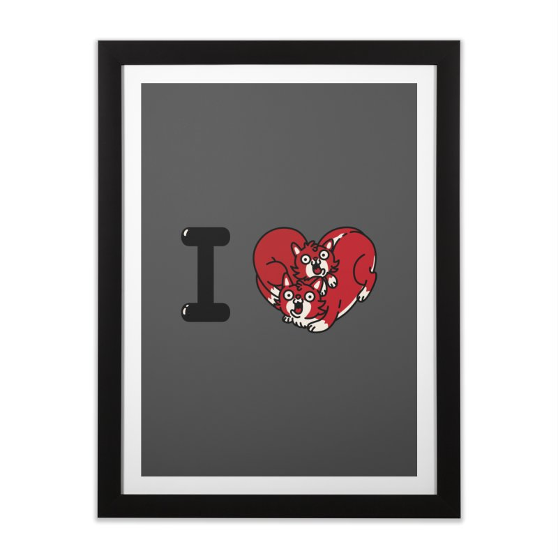 I heart cats Home Framed Fine Art Print by Rodrigobhz
