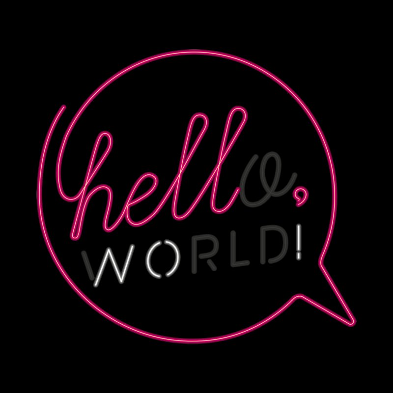 Hello, world! Home Stretched Canvas by Rodrigobhz