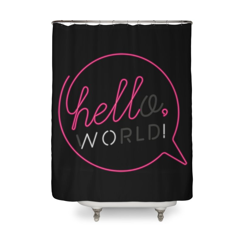 Hello, world! Home Shower Curtain by Rodrigobhz