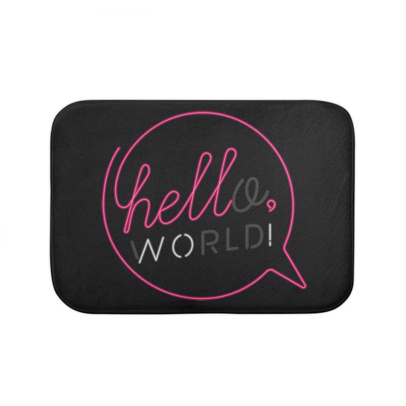 Hello, world! Home Bath Mat by Rodrigobhz
