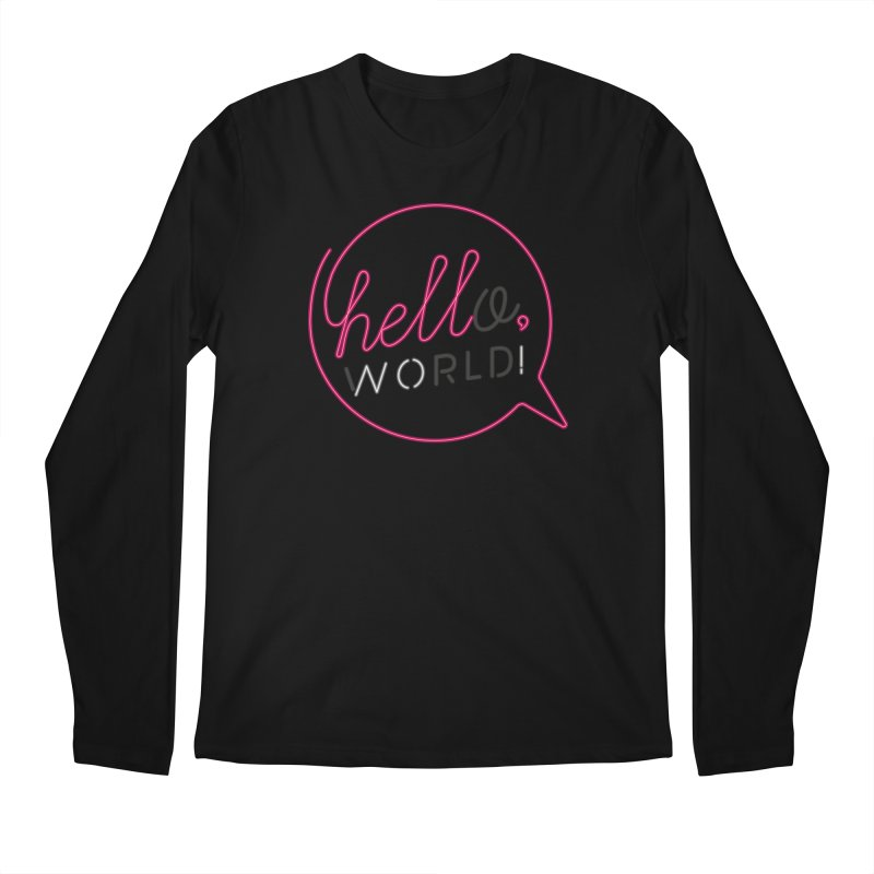 Hello, world! Men's Regular Longsleeve T-Shirt by Rodrigobhz