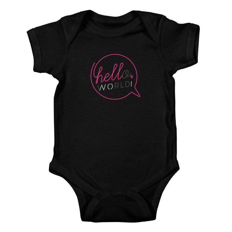 Hello, world! Kids Baby Bodysuit by Rodrigobhz