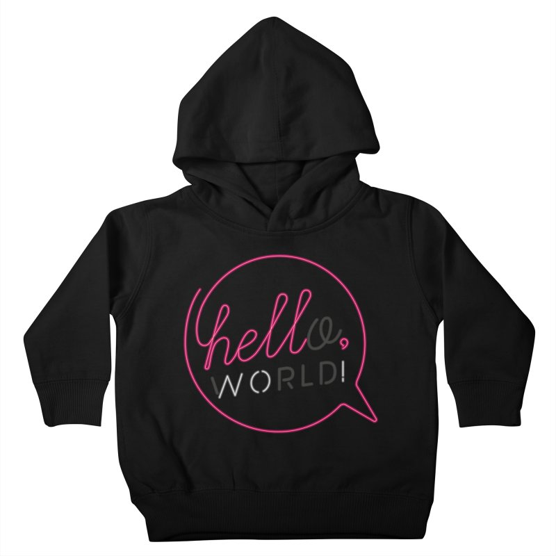 Hello, world! Kids Toddler Pullover Hoody by Rodrigobhz