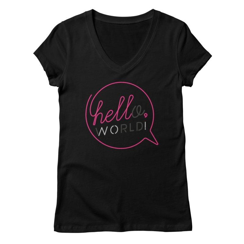 Hello, world! Women's Regular V-Neck by Rodrigobhz