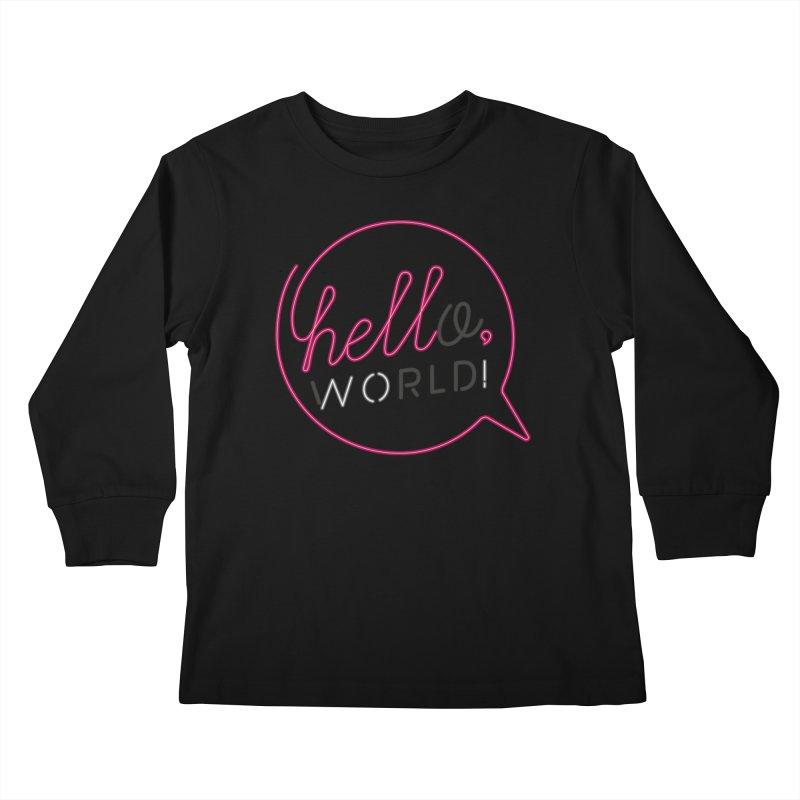 Hello, world! Kids Longsleeve T-Shirt by Rodrigobhz