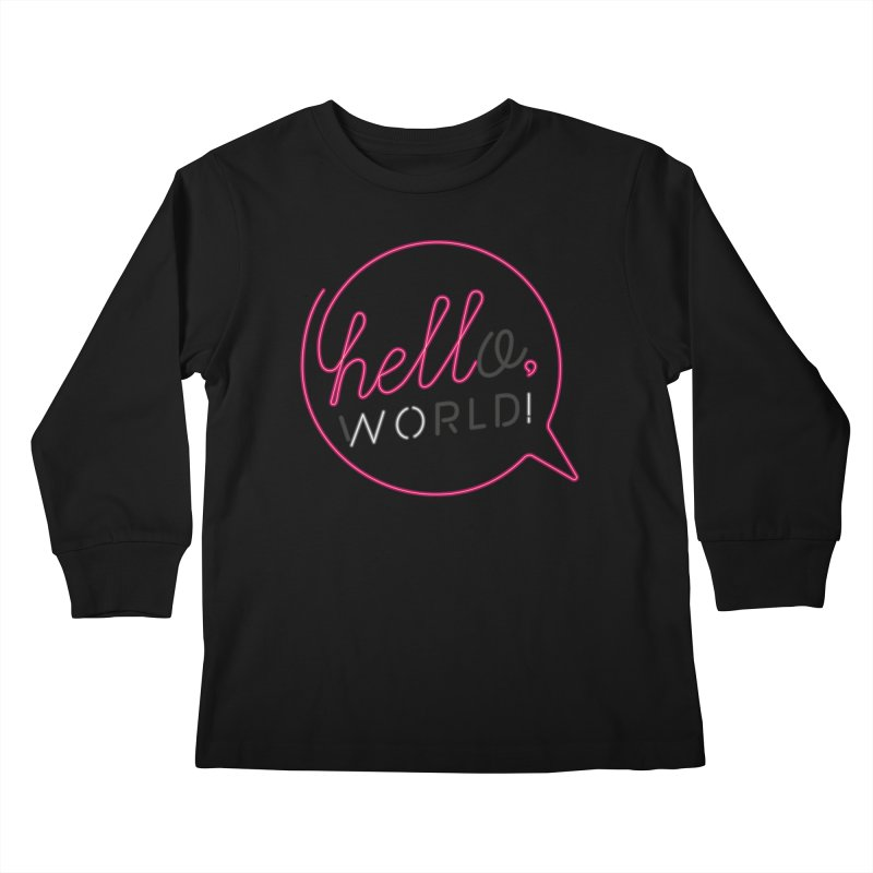 Hello, world! Kids Longsleeve T-Shirt by Rodrigobhz