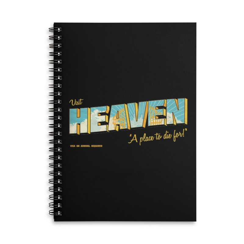 Visit heaven Accessories Lined Spiral Notebook by Rodrigobhz