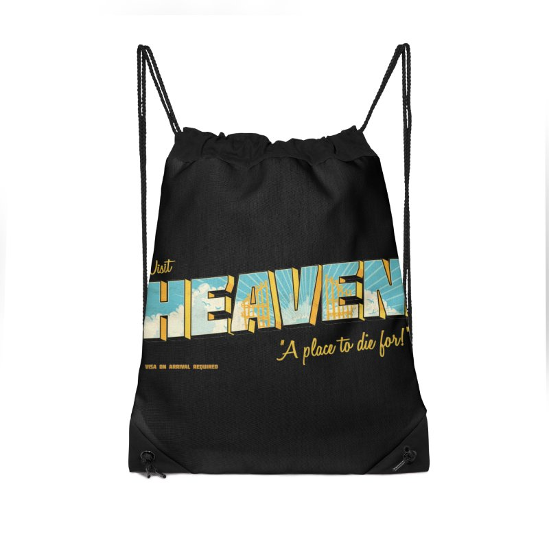 Visit heaven Accessories Drawstring Bag Bag by Rodrigobhz