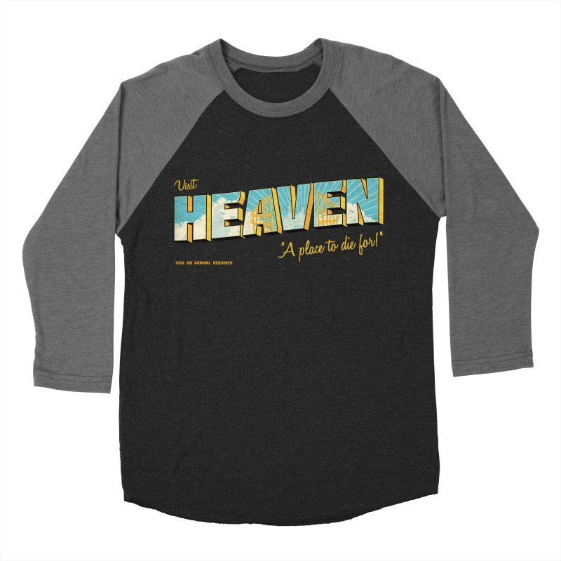 Visit heaven Men's Baseball Triblend Longsleeve T-Shirt by Rodrigobhz