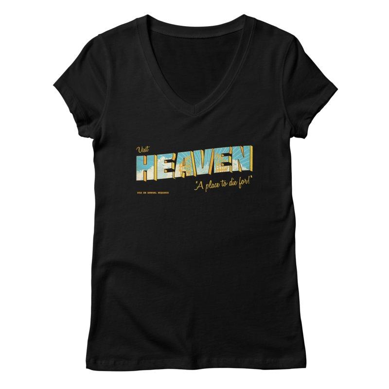 Visit heaven Women's Regular V-Neck by Rodrigobhz