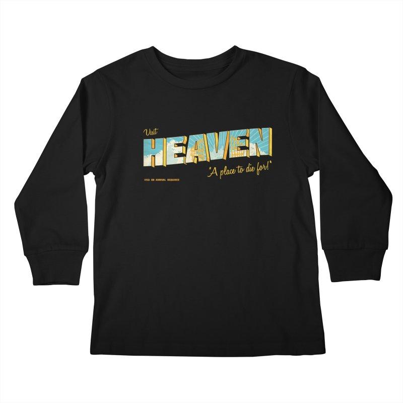 Visit heaven Kids Longsleeve T-Shirt by Rodrigobhz
