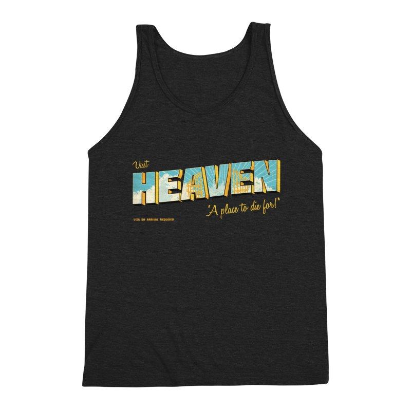 Visit heaven Men's Triblend Tank by Rodrigobhz