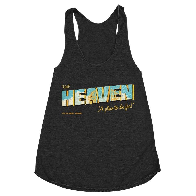 Visit heaven Women's Racerback Triblend Tank by Rodrigobhz