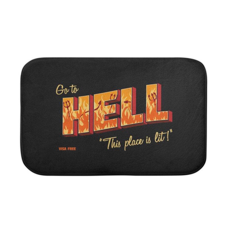 Go to Hell Home Bath Mat by Rodrigobhz