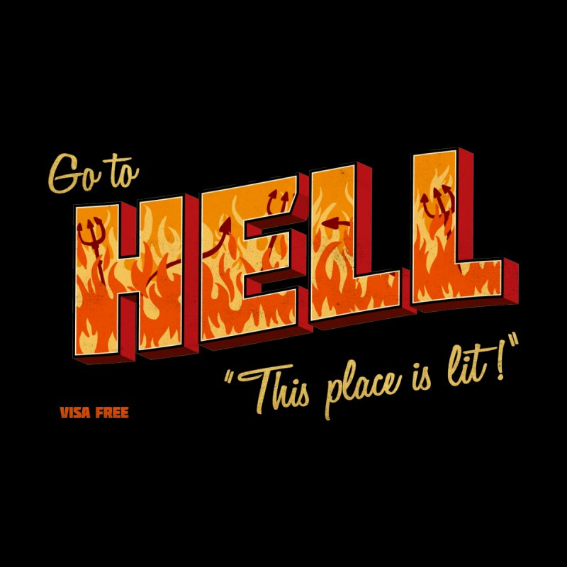Go to Hell Home Shower Curtain by Rodrigobhz