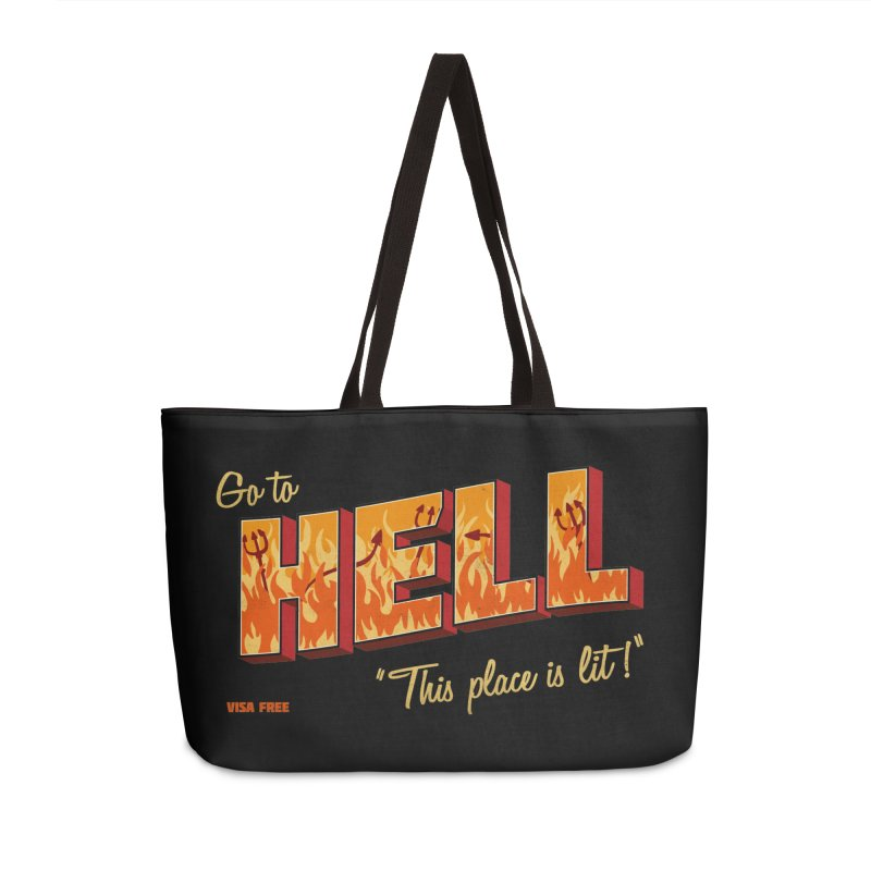 Go to Hell Accessories Weekender Bag Bag by Rodrigobhz