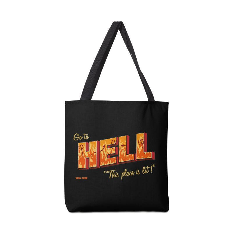 Go to Hell Accessories Bag by Rodrigobhz