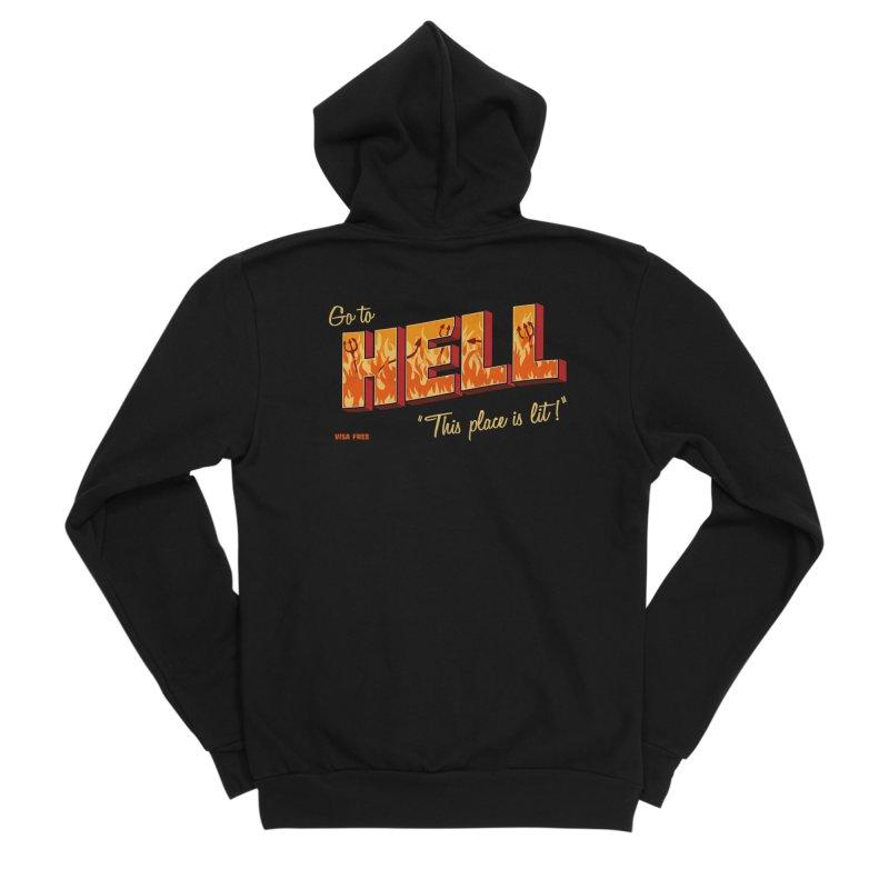 Go to Hell Men's Sponge Fleece Zip-Up Hoody by Rodrigobhz