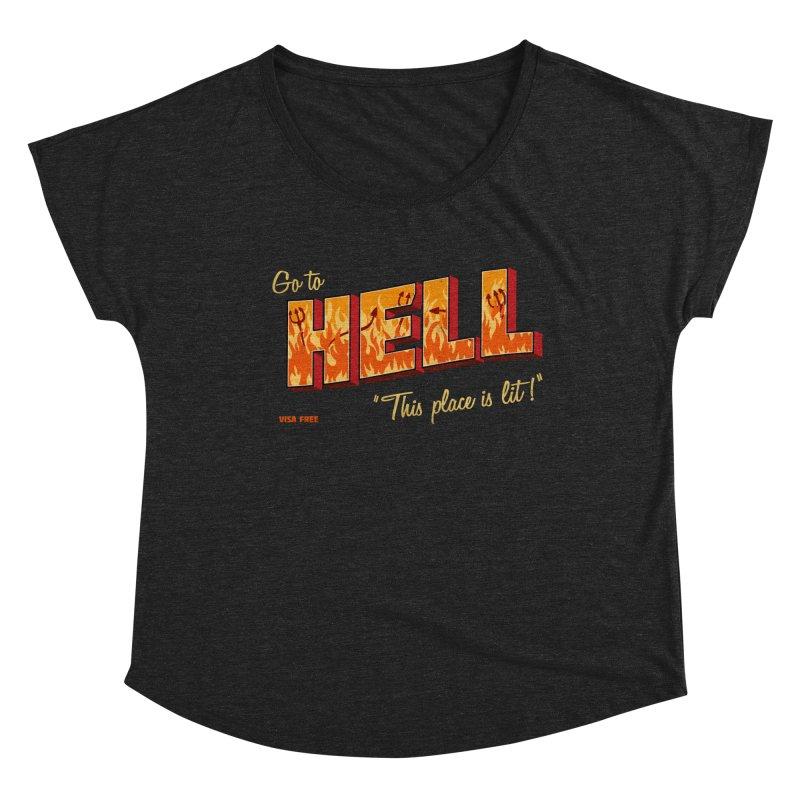 Go to Hell Women's Scoop Neck by Rodrigobhz