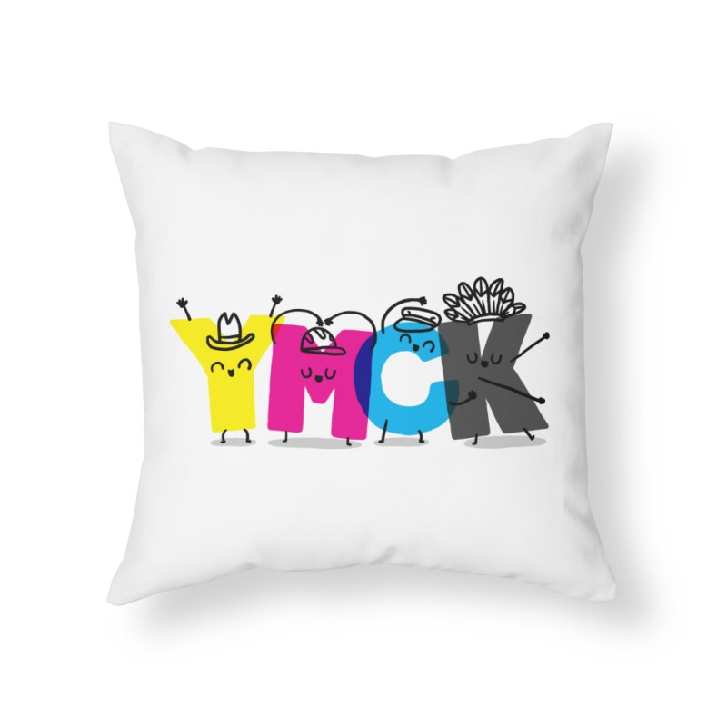 YMCK Home Throw Pillow by Rodrigobhz