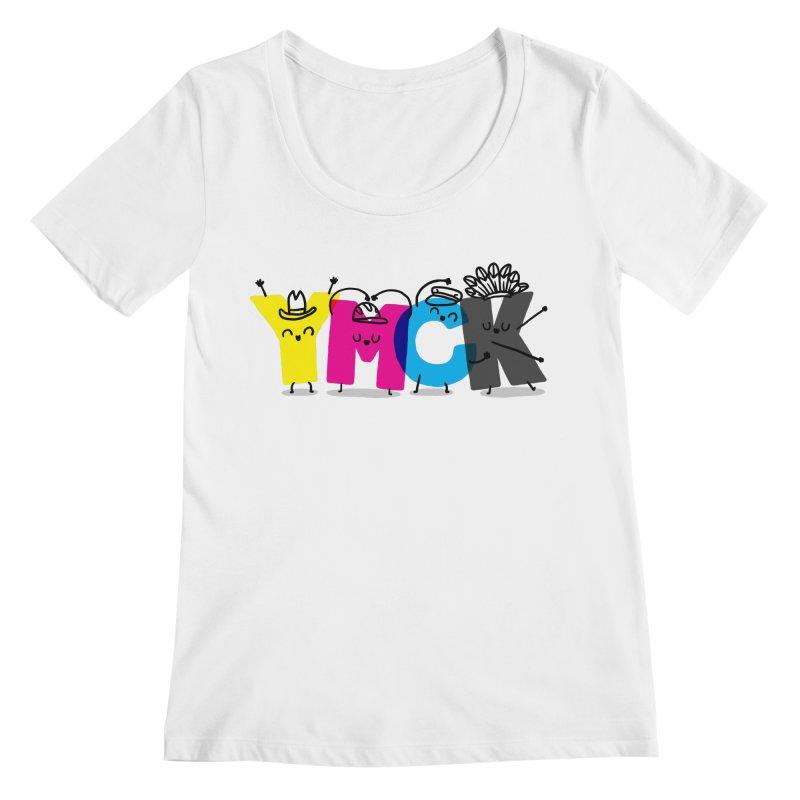 YMCK Women's Regular Scoop Neck by Rodrigobhz