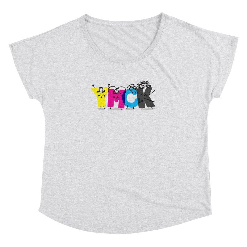 YMCK Women's Dolman Scoop Neck by Rodrigobhz