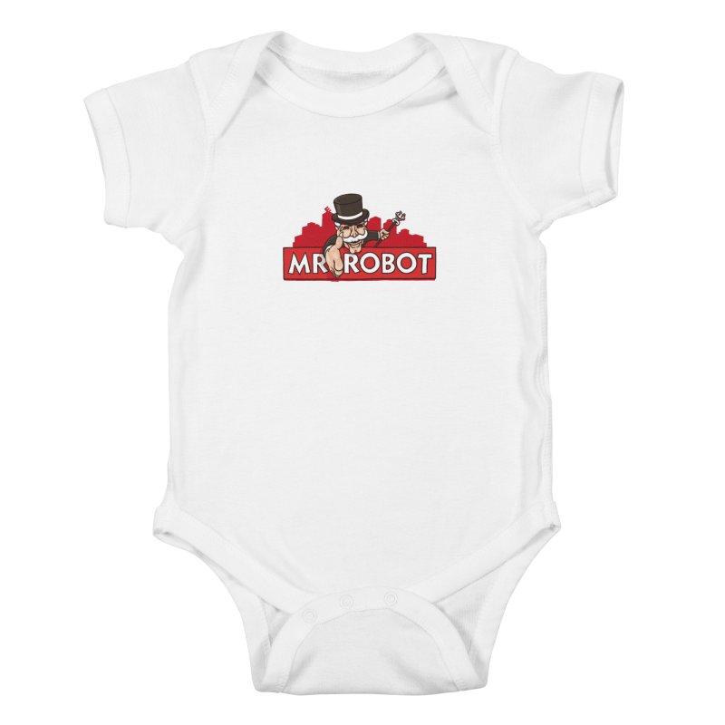 Hacked Kids Baby Bodysuit by Rodrigobhz