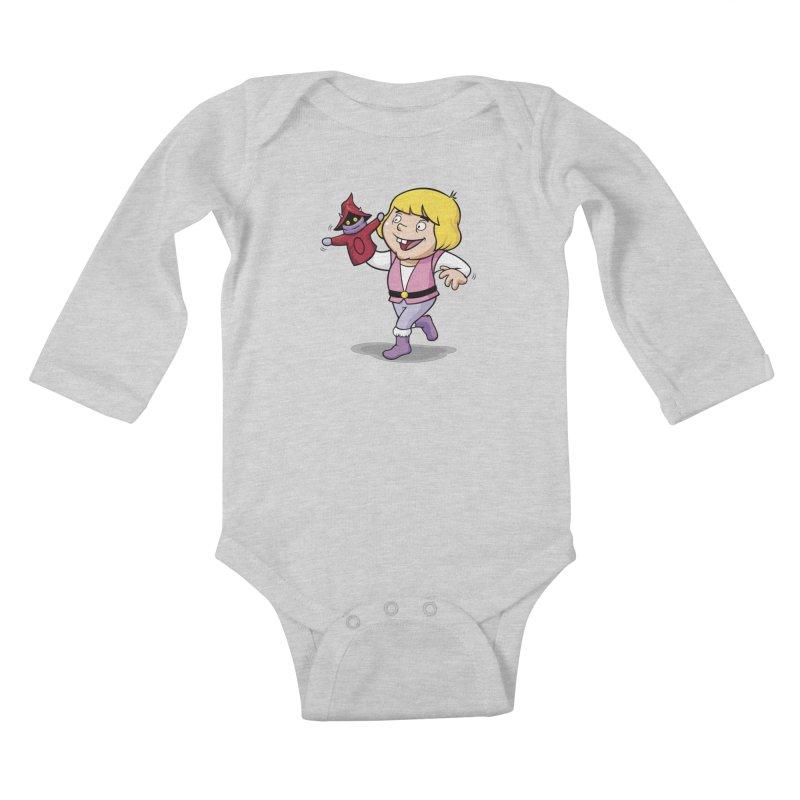 Little Adam Kids Baby Longsleeve Bodysuit by Rodrigo Habib Artist Shop