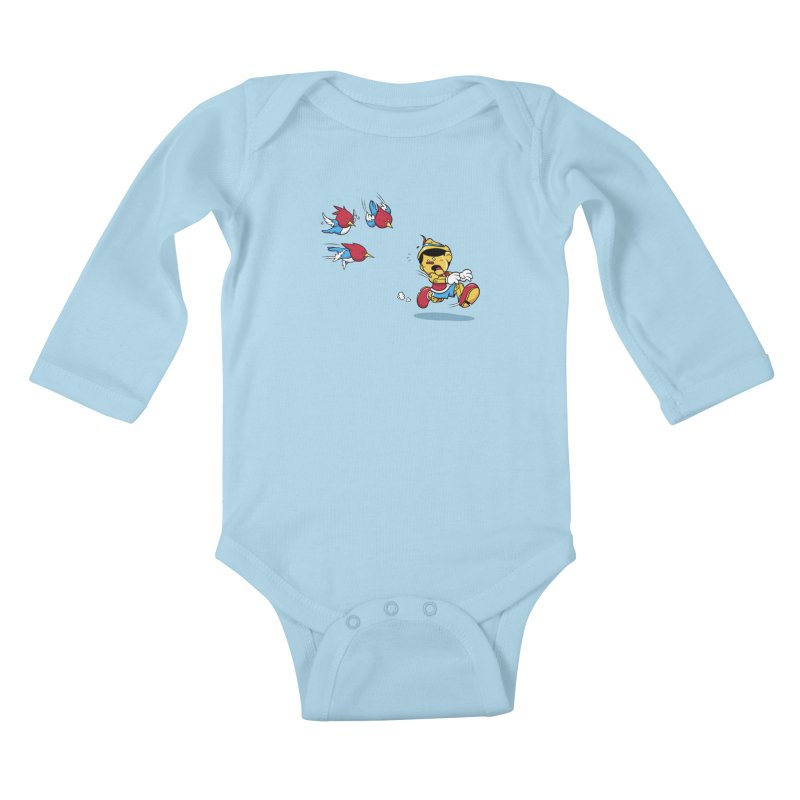 Fast Food Kids Baby Longsleeve Bodysuit by Rodrigo Habib Artist Shop