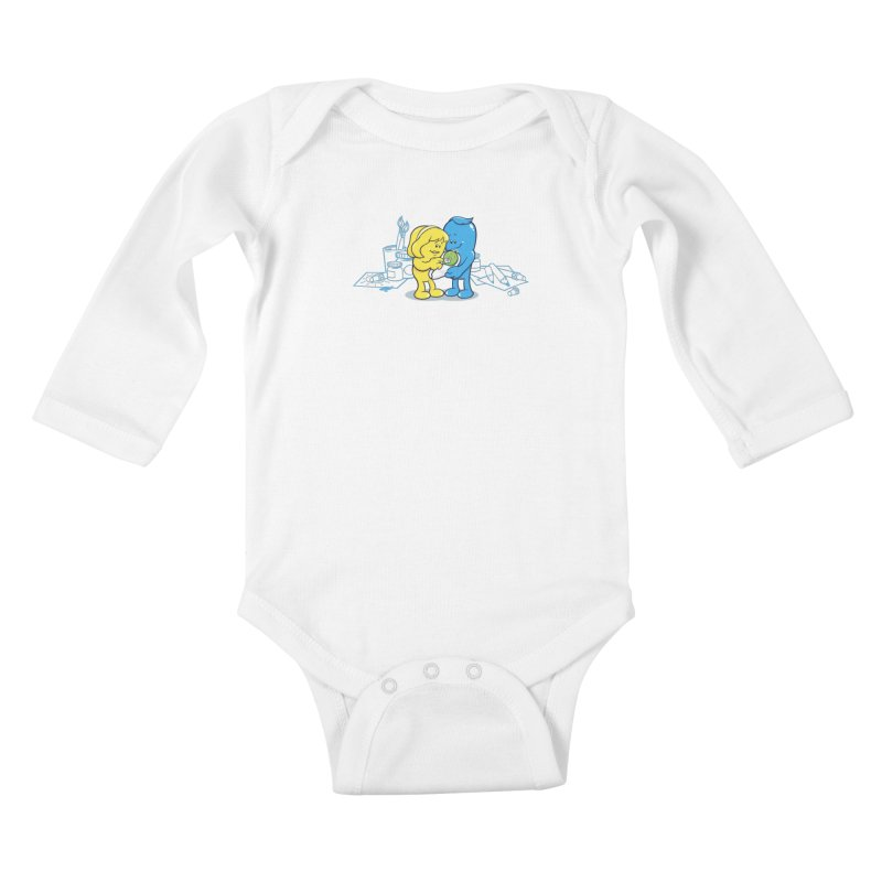 The birth of small Green Kids Baby Longsleeve Bodysuit by Rodrigo Habib Artist Shop