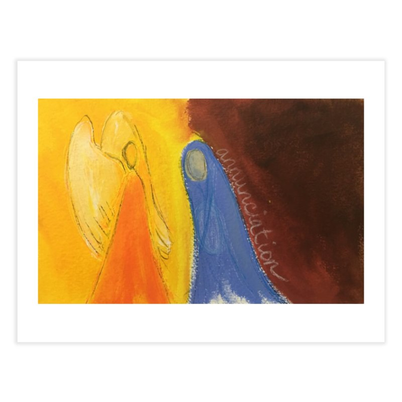 Annunciation Home Fine Art Print by Art by Roger Hutchison