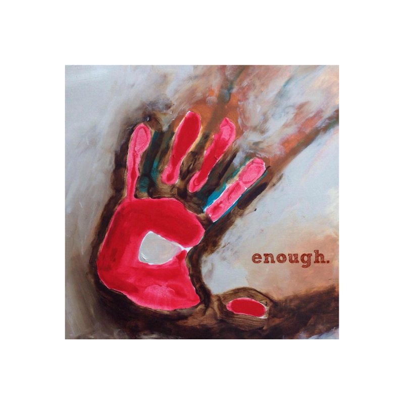Enough Women's V-Neck by Art by Roger Hutchison