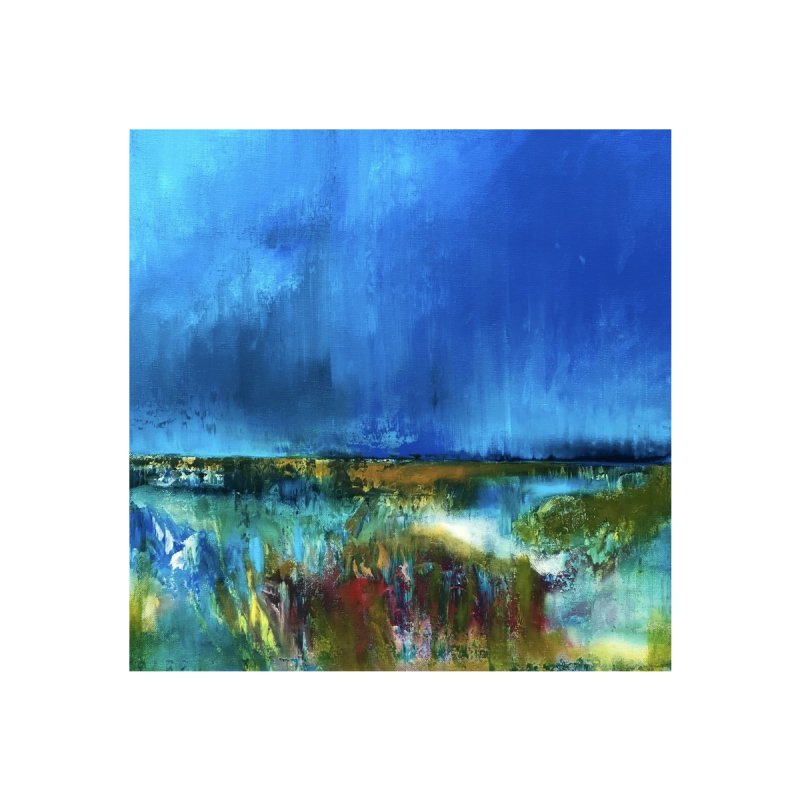 Rain Home Fine Art Print by Art by Roger Hutchison
