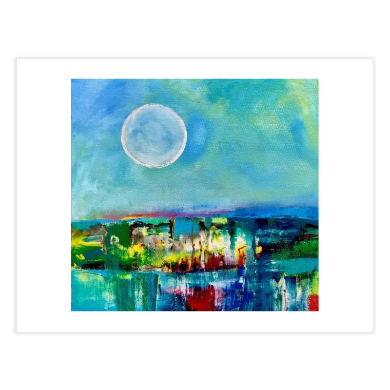 Moon Home Fine Art Print by Art by Roger Hutchison