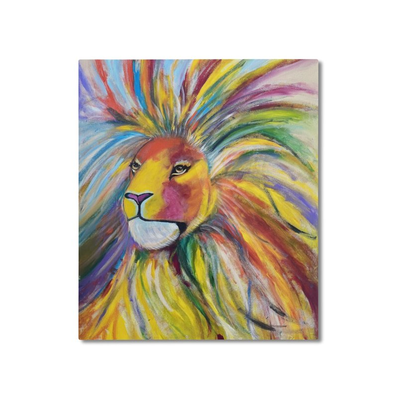 Aslan Home Mounted Aluminum Print by Art by Roger Hutchison