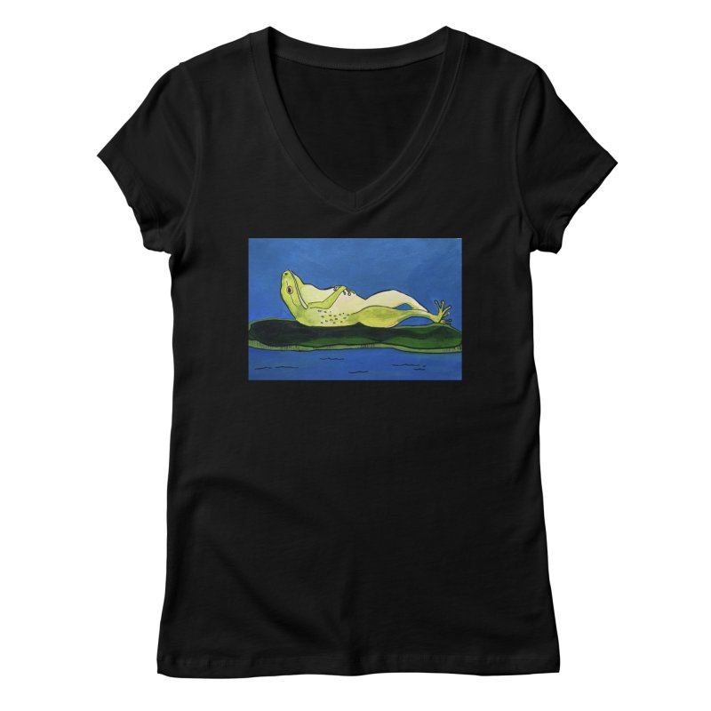 Rest Women's V-Neck by Art by Roger Hutchison